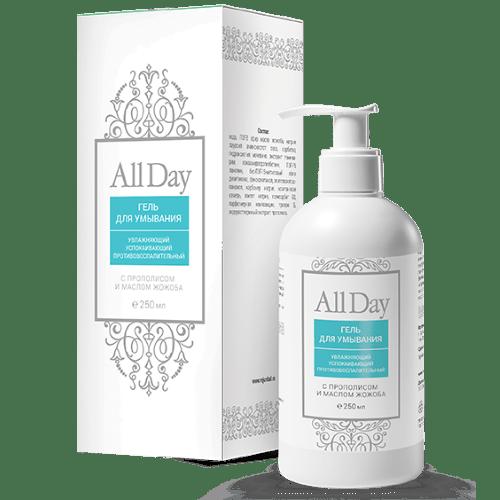 Гель для умывания AllDay с прополисом и маслом жожоба